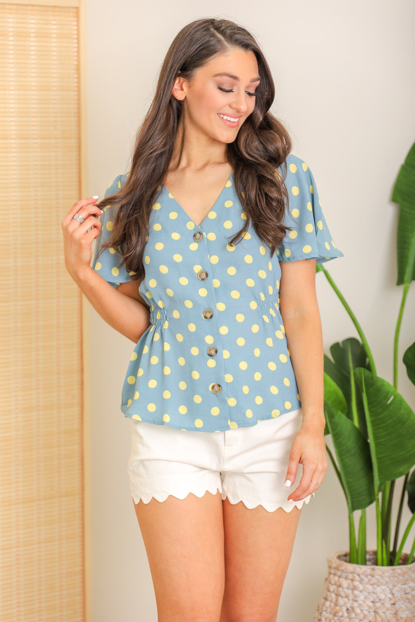 Sunny Days Ahead Polka Dot Top