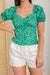 Love Me, Love Me Not Puff Sleeve Top - Green
