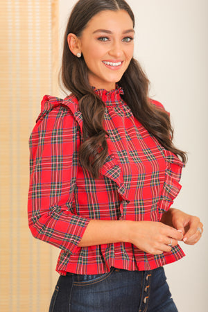 Fall-A-Day Cheer Peplum Blouse
