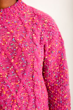 Tons of Funfetti Pink Sweater