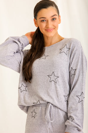 Wish Upon a Star Lounge Top - Violet