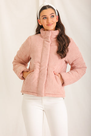 Make Me Blush Puffer Coat