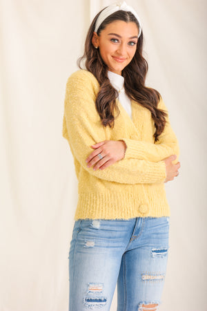 Sunset Cheer Button Cardigan