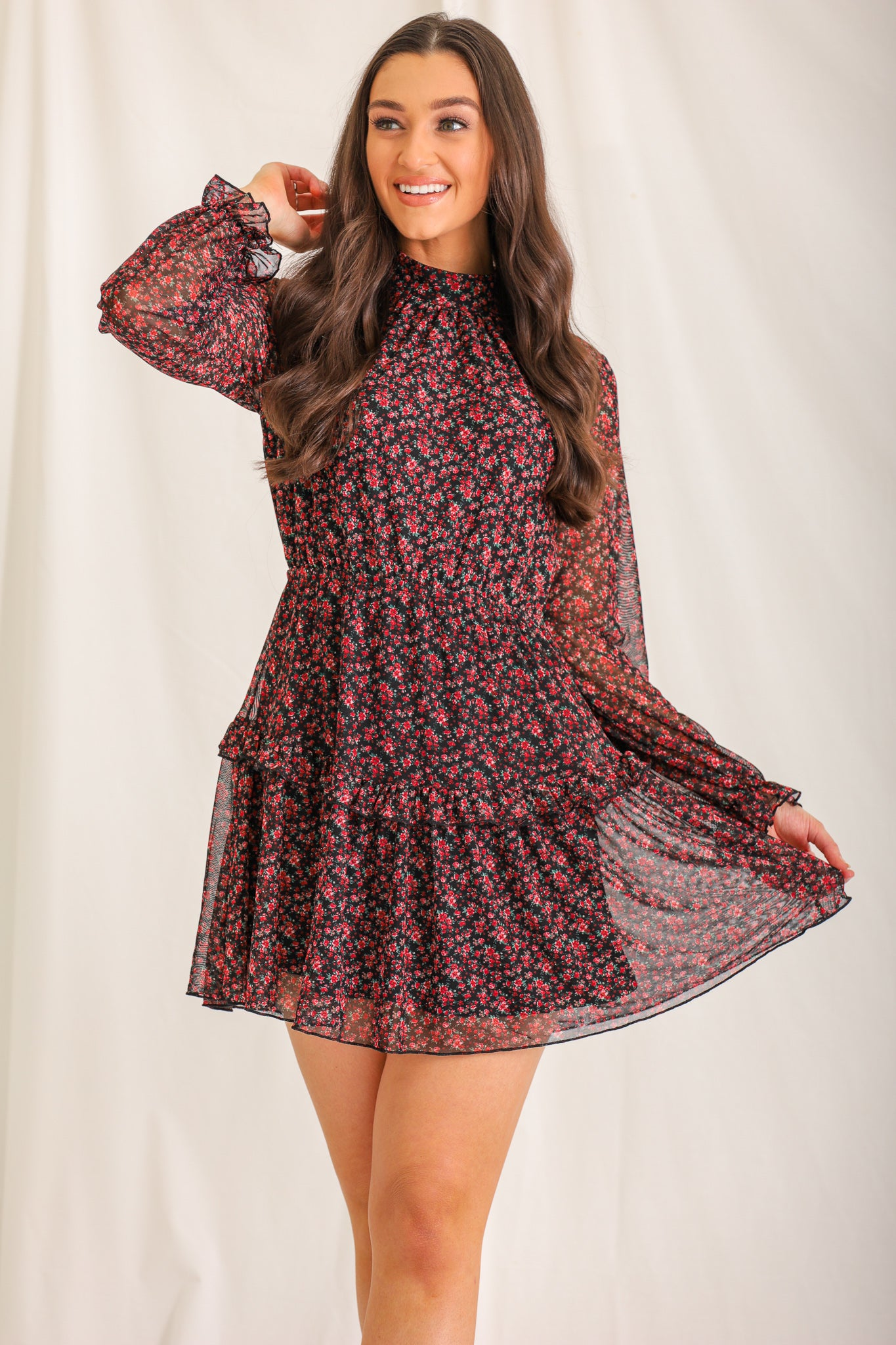 Let Me Take You Dancing Ruffle Dress
