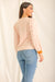 "In a ""Bobbley"" Mood Knit Sweater - Pink/Nude"