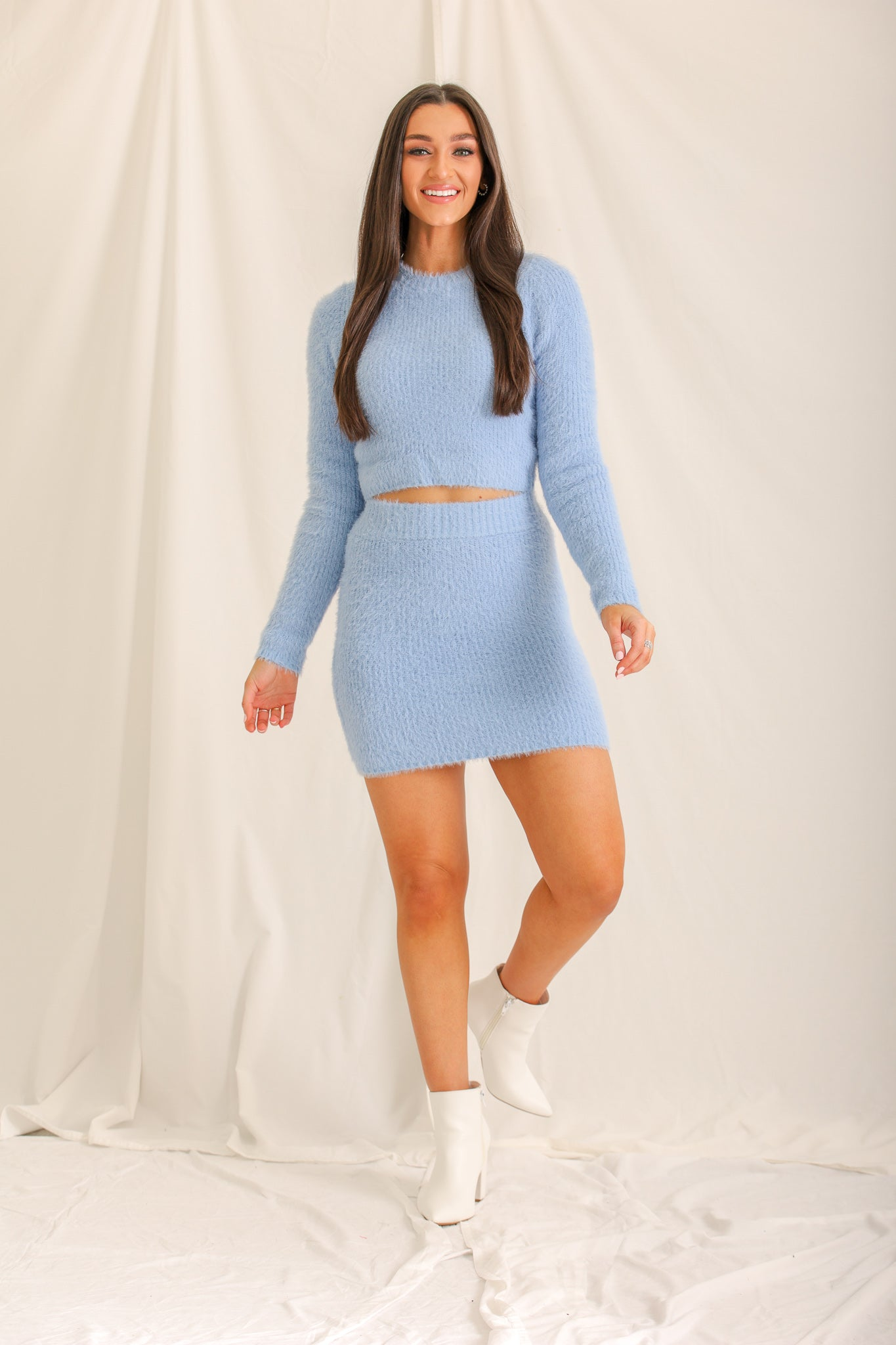 Frozen Heart Sweater Mini Skirt