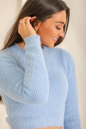 Frozen Heart Cropped Sweater