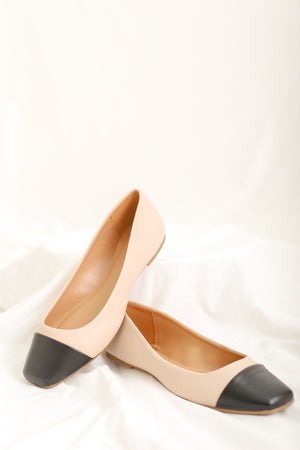 Take Me To The Ballet Flats - Beige/Black