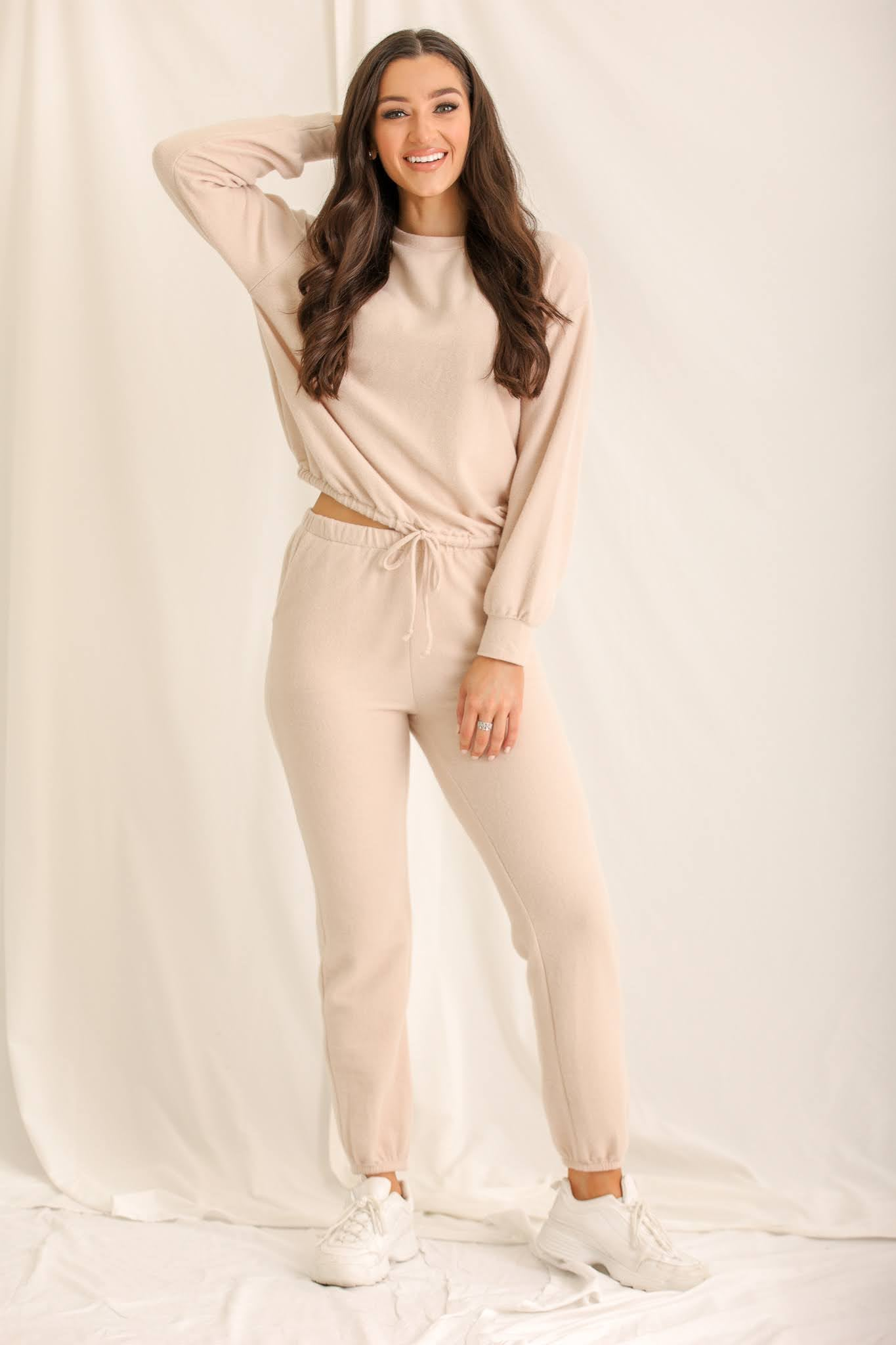 Girl On The Go Anywhere Joggers - Taupe