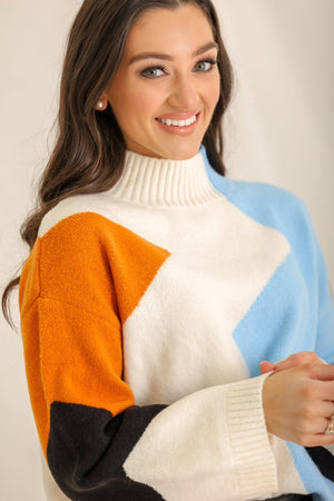 Life Of The Block Party Mockneck Sweater