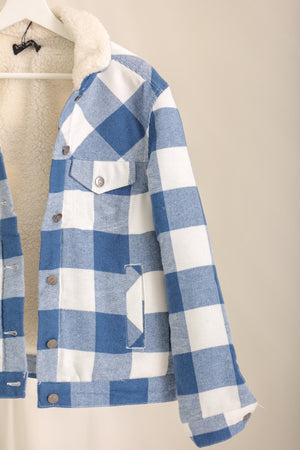 Smell The Fresh Air Buffalo Plaid Fleece Lined Jacket