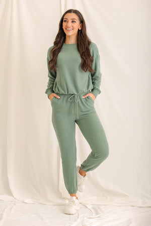 Girl On The Go Anywhere Joggers - Sage