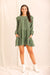 It's Fall Babydoll Dress- Olive