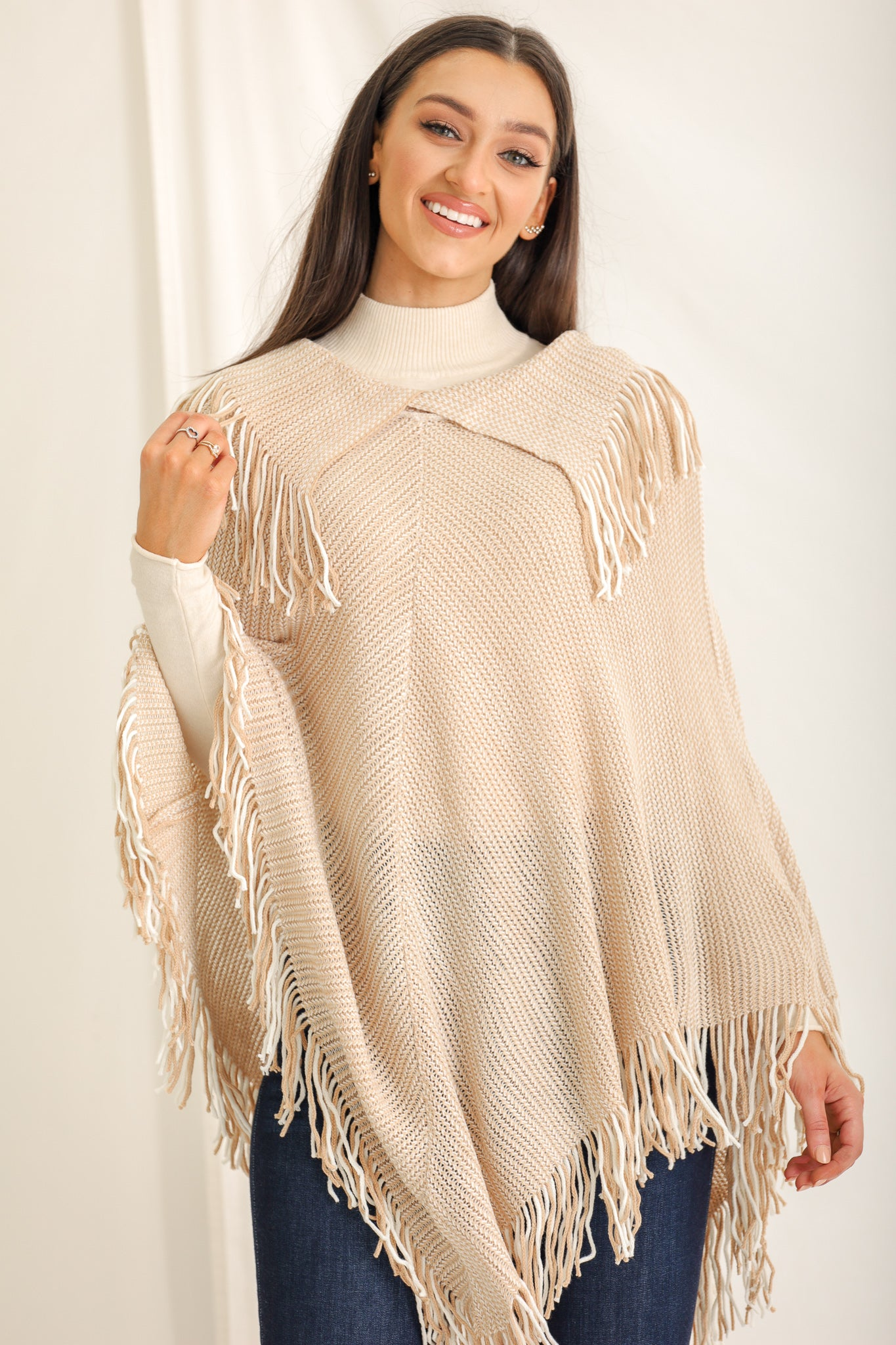 Some fun and Some Fringe Turtleneck Poncho