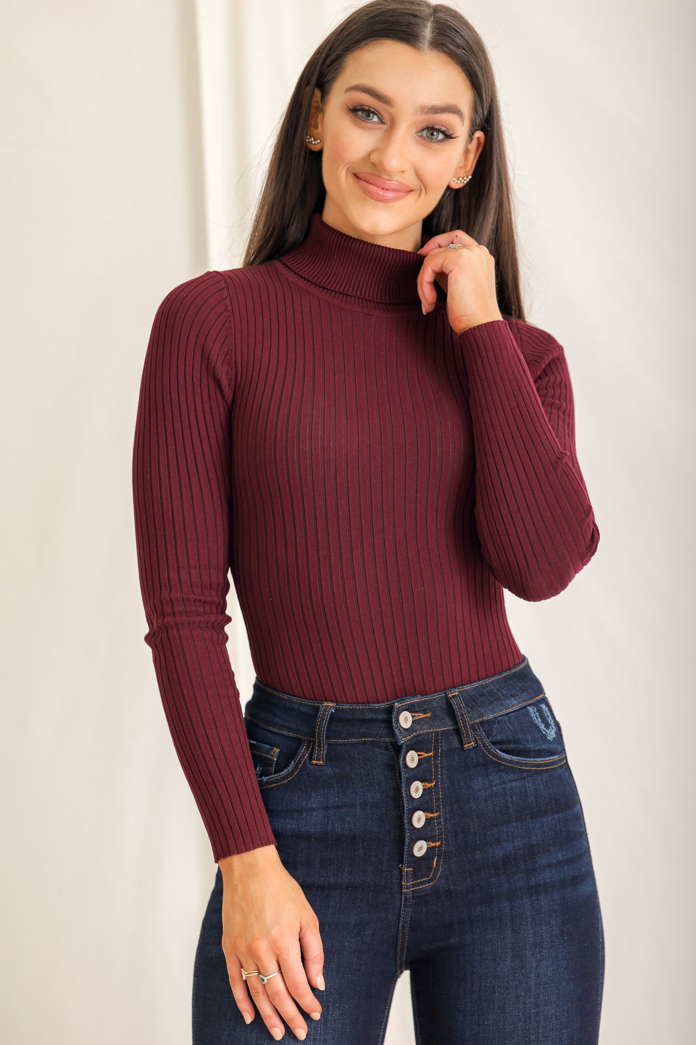 Gotta Have This Ribbed Bodysuit - Burgundy