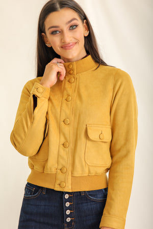 You've Suede Me Bomber Jacket