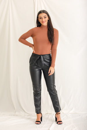 Friend or Faux Leather Pants