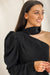 Get My Good Side One Shoulder Top - Black