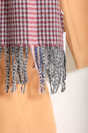 One Fun Plaid Tassel Scarf