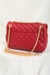 Small Classy Quilted Chain Bag - Black, Red and Olive