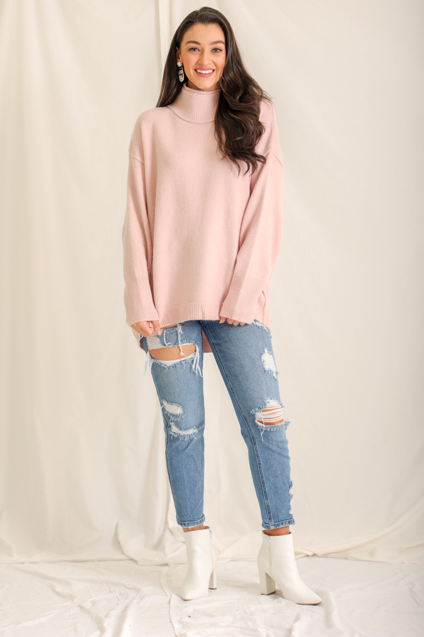 Tickle Us Pink Tunic Sweater