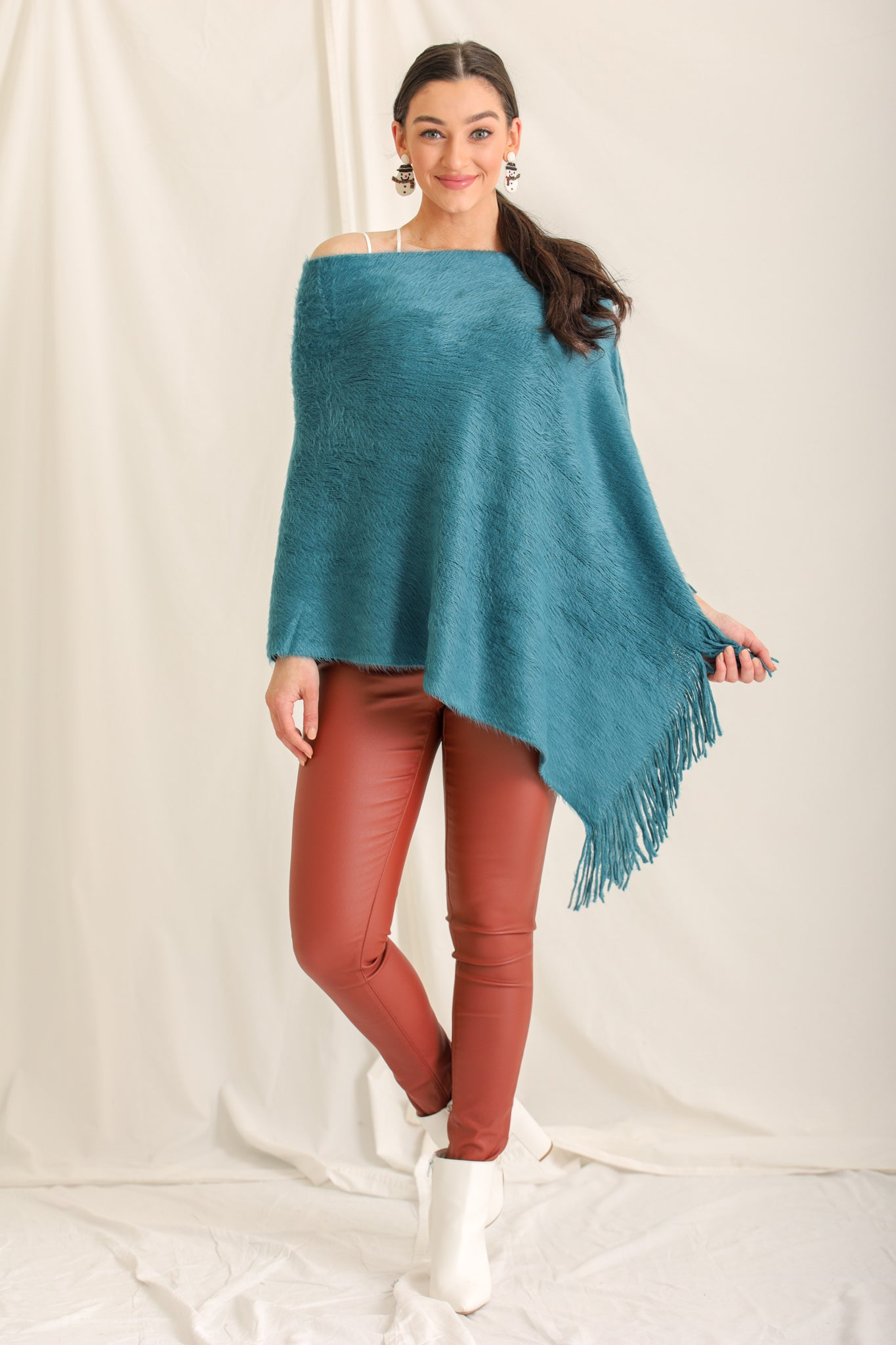 All The Teal Feels Poncho