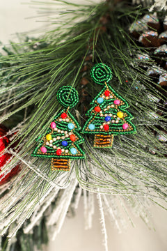 Pretty Little Christmas Tree Earrings