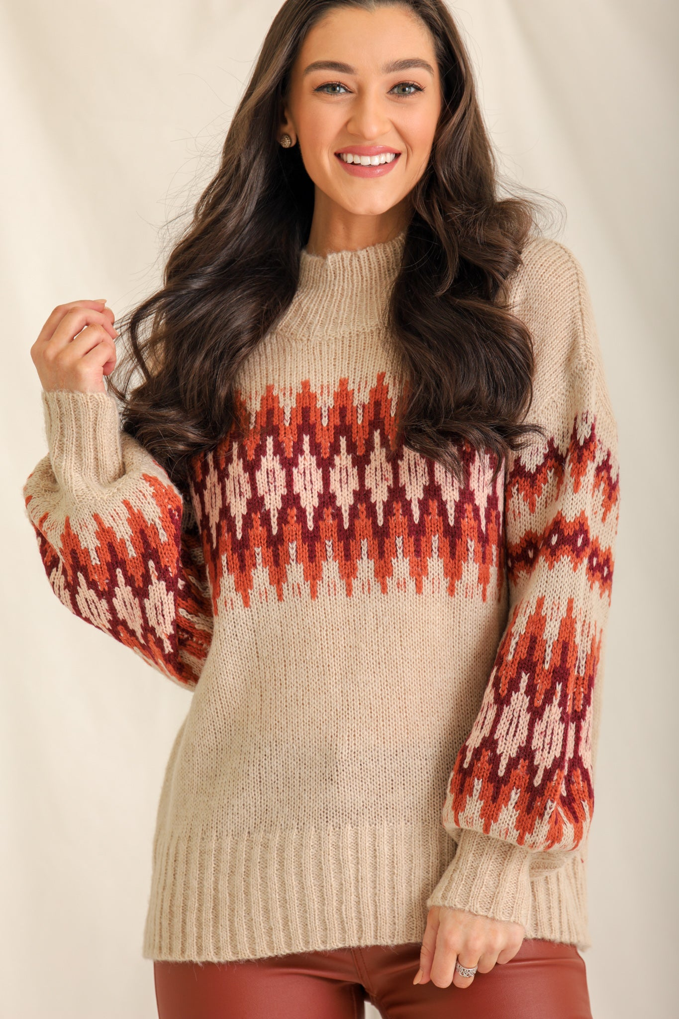 I Think It Is Pretty Fair-Isle Turtleneck Sweater