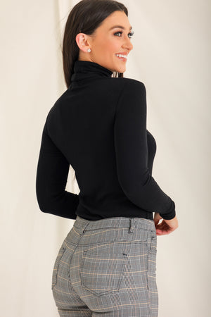 Tuck And Roll Turtleneck - Black