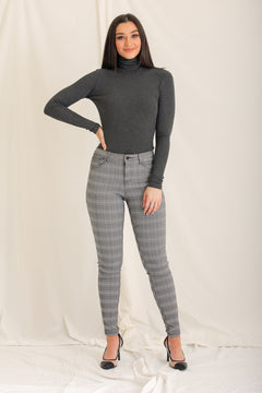 Tuck and Roll Turtleneck - Grey