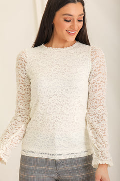 Delicately Detailed Daydream Cream Top
