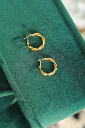 Jackie Twist Hoop Earrings