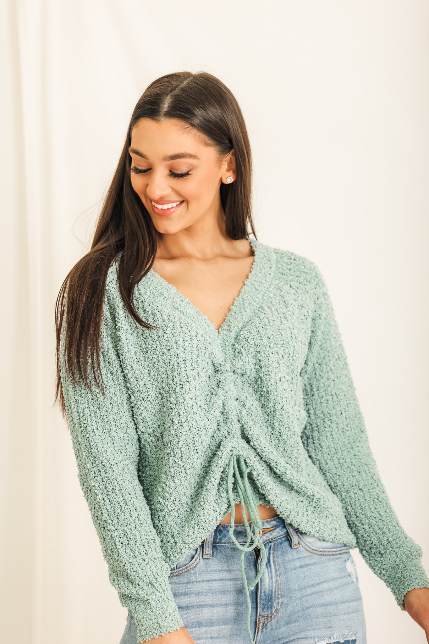 Sea Salt Popcorn Knit Sweater