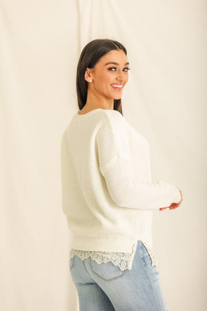A Little Lacey Lady Knit Sweater
