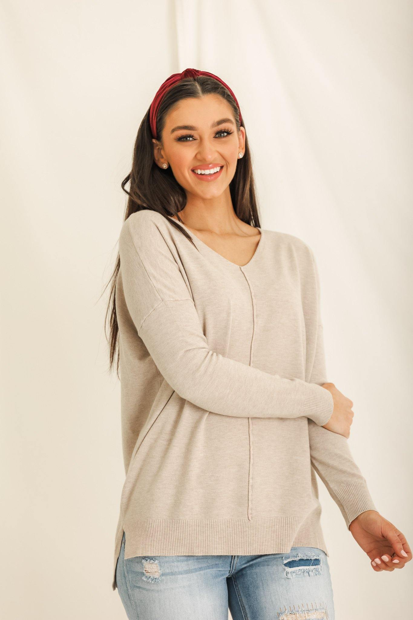 A Very Essential Tunic Sweater - Oatmeal