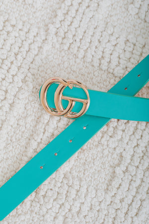 Gee We Love This Belt - Turquoise
