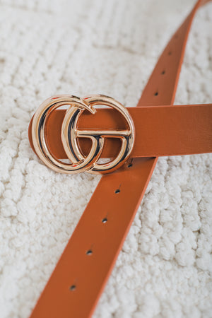 Gee We Love This Belt - Brown