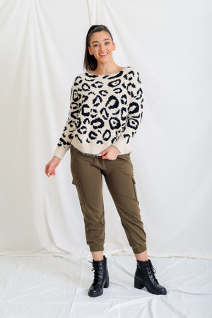 All Wound Up Reversible Twist Back Sweater