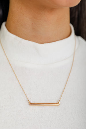Raise The Bar Necklace - Gold