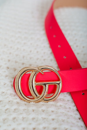 Gee We Love This Belt - Hot Pink