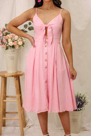 Sweet Little Thing Pink Midi Dress