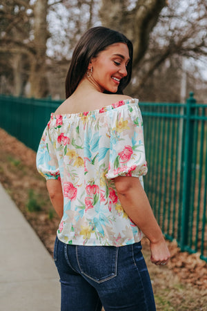 Spring Ahead Off The Shoulder Top