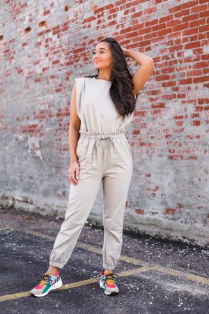All Day Long Jogger Suit - Stone