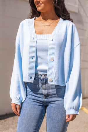 Clear Blue Sky Cardigan Sweater