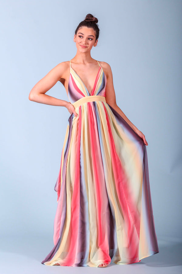 Summer State of Mind Rainbow Maxi