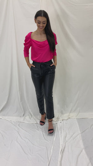 Double Bubble Pop of Pink Blouse