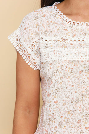 Florals and Frills Eyelet Top