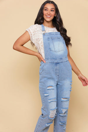 Totally Distressin' Denim Overalls