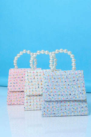 Funfetti Is All You Tweed Purse - Pink/Pearl