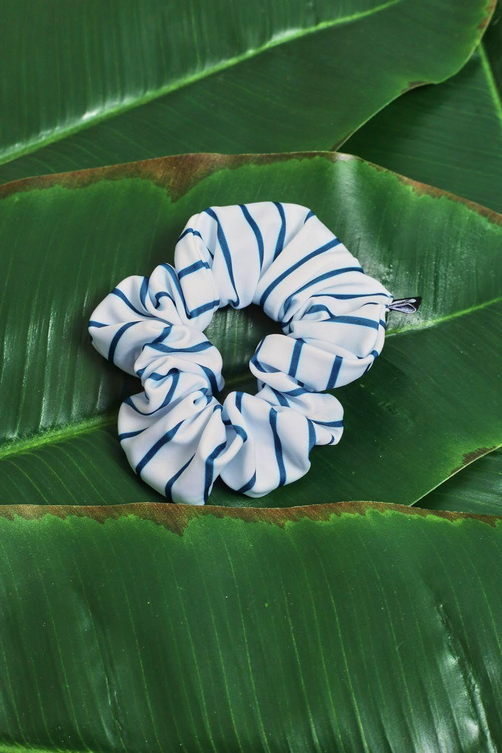 Pinstripe Swim Hair Scrunchie
